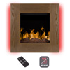 Electric LED Fireplace- Wall Mounted with 13 Backlight Colors, 10 Flame Colors, Timer and Remote Control NO HEAT- 24 inch by Northwest (Rustic Wood)