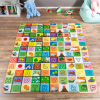 Reversible Baby Play Mat for Babies and Toddlers- Giant Learning Playmat with Alphabet and Animal Scenes- Nonslip, Nontoxic, Waterproof by Hey! Play!