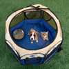 Pop-Up Pet Playpen with Carrying Case for Indoor/Outdoor Use 26.5? x 17?-Portable for Travel-Great for Dogs, Cats, Small Animals-by Petmaker (Blue)