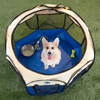 Pop-Up Pet Playpen with Carrying Case for Indoor/Outdoor Use 31.5? x 22?-Portable for Travel-Great for Dogs, Cats, Small Animals- by Petmaker (Blue)