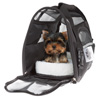 Airline Compliant Pet Carrier- 15?x 8?x 10? Travel Bag for Pets with Large View Window, Removable Resting Pad and Detachable Strap by Petmaker (Black)
