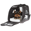 Airline Compliant Pet Carrier-17?x 10?x 12? Travel Bag for Pets with Large View Window, Removable Resting Pad and Detachable Strap by Petmaker (Black)
