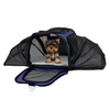 Airline Compliant Expandable Pet Carrier-17.5?x11?x11.25? Pet Travel Bag-Has View Window, Removable Pad, Leash, Detachable Strap by Petmaker (Navy)