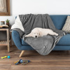Waterproof Pet Blanket-50?x 60? Soft Plush Throw Protects Couch, Chairs, Car, Bed from Spills, Stains, or Pet Fur-Machine Washable by Petmaker (Gray)