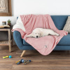 Waterproof Pet Blanket-50?x 60? Soft Plush Throw Protects Couch, Chairs, Car, Bed from Spills, Stains, or Pet Fur-Machine Washable by Petmaker (Pink)