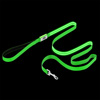 LED Dog Leash-Lights Up for Night Visibility and Safety-6? Leash With Padded Grip Handle, 3 Flash Modes-For Evening Walks or Runs by Petmaker (Green)