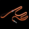 LED Dog Leash-Lights Up for Night Visibility and Safety-6? Leash With Padded Grip Handle, 3 Flash Modes-For Evening Walks or Runs by Petmaker (Orange)