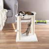 Cat Tree and Scratcher- Two Sisal Scratching Posts, Hammock Style Lounging Bed and Interactive Hanging Toy for Cats and Kittens By PETMAKER (15.75?)