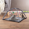 Cat Activity Center- Interactive Play Area Station for Cats, Kittens With Fleece Mat, Hanging Toys, Foldable Design for Exercise, Napping by PETMAKER