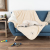 Waterproof Pet Blanket ? 60inx50in Soft Plush Throw Protects Couch, Chair, Car, Bed from Spills, Stains or Fur-Machine Washable by Petmaker (Cream))