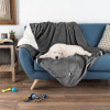 Waterproof Pet Blanket ? 60inx50in Soft Plush Throw Protects Couch, Chair, Car, Bed from Spills, Stains or Fur-Machine Washable by Petmaker (Gray)