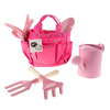 Kid?s Garden Tool Set with Child Safe Shovel, Rake, Fork, Gloves, Watering Can and Canvas Tote- Mini Gardening Kit for Boys and Girls by Hey! Play!