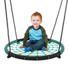 Spider Web Tree Swing-Large 40-inch Diameter Hanging Tree Rope Saucer Seat-Great Backyard Playground Equipment for Boys and Girls by Hey! Play!