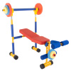 Toy Bench and Leg Press ? Children?s Play Workout Equipment for Beginner Exercise, Weightlifting and Powerlifting - For Boys and Girls by Hey! Play!