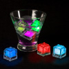 LED Ice Cube Shape Lights-Liquid Activated Submersible, Reusable-Color Change, Battery Operated for Weddings, Parties by Lavish Home (12 Pack)