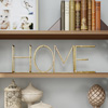 Metal Cutout Free-Standing Table Top Sign-3D HOME Word Art Accent D�cor with Gold Metallic Finish-Modern, Classic, or Farmhouse Style by Lavish Home