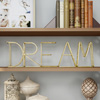 Metal Cutout Free-Standing Table Top Sign-3D DREAM Word Art Accent D�cor with Gold Metallic Finish-Modern, Classic, or Farmhouse Style by Lavish Home