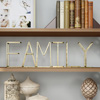 Metal Cutout Free-Standing Table Top Sign-3D FAMILY Word Art Accent D�cor with Gold Metallic Finish-Modern, Classic, or Farmhouse Style by Lavish Home