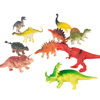 10-Pack Toy Dinosaur Figure Set Includes T-Rex, Stegosaurus, Styracosaurus and More- Fun Assorted Pack Dinosaurs for Boys and Girls by Hey! Play!