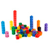 Building Block Cube Set- 100 Piece Colorful Plastic Snap Cubes for Educational Fun and STEM Learning for Boys and Girls by Hey! Play!