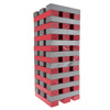 Nontraditional Giant Wooden Blocks Tower Stacking Game, Outdoor Yard Game, For Adults, Kids, Boys and Girls by Hey! Play! (Red and Gray)