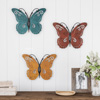 Butterfly Metal Wall Art 3 Piece Set- Hand Painted Decorative 3D Nature Butterflies for Modern Farmhouse Rustic Home or Office Decor By Lavish Home