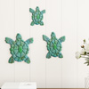 Sea Turtle Wall Art- Nautical 3D Metal Hanging D�cor-Vintage Coastal Seaside Inspired Style-Under Water Sea Life Ocean by Lavish Home 3PC