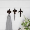 Decorative Hooks-3 Cast Iron Shabby Chic Rustic Fleur De Lis Wall Mount Hooks for Coats, Hats, Jewelry, and More by Lavish Home (Set of 3)