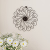 Medallion Metal Wall Art- 15.25 Inch Swirl Round- Metal Home D�cor, Hand Crafted with Distressed Finish- Mounting Screws Included by Lavish Home