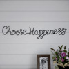 Metal Cutout- Choose Happiness Cursive Cutout Sign-3D Word Art Home Accent D�cor-Perfect for Modern Rustic or Vintage Farmhouse Style by Lavish Home