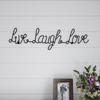 Metal Cutout- Live Laugh Love Cursive Cutout Sign-3D Word Art Home Accent D�cor-Perfect for Modern Rustic or Vintage Farmhouse Style by Lavish Home