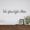 Metal Cutout- Let Your Light Shine Cursive Sign-3D Word Art Home Accent D�cor-Perfect for Modern Rustic or Vintage Farmhouse Style by Lavish Home