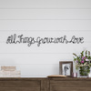 Metal Cutout-All Things Grow with Love Cursive Sign-3D Word Art Home Accent D�cor-Perfect for Modern Rustic or Vintage Farmhouse Style by Lavish Home