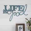 Metal Cutout- Life is Good Decorative Wall Sign-3D Word Art Home Accent D�cor-Perfect for Modern Rustic or Vintage Farmhouse Style by Lavish Home