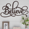Metal Cutout- Believe Decorative Wall Sign-3D Word Art Home Accent D�cor-Perfect for Modern Rustic or Vintage Farmhouse Style by Lavish Home