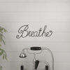 Metal Cutout- Breathe Decorative Wall Sign-3D Word Art Home Accent D�cor-Perfect for Modern Rustic or Vintage Farmhouse Style by Lavish Home