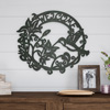 Metal Cutout- Welcome Decorative Wall Sign Wreath-Word Art Home Accent-Perfect for Modern Rustic or Vintage Farmhouse Style by Lavish Home