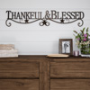 Metal Cutout-Thankful And Blessed Decorative Wall Sign-3D Word Art Home Accent D�cor-Modern Rustic or Vintage Farmhouse Style by Lavish Home
