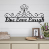 Metal Cutout-Live Laugh Love Decorative Wall Sign-3D Word Art Home Accent D�cor-Modern Rustic or Vintage Farmhouse Style by Lavish Home