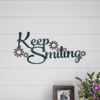 Metal Cutout- Keep Smiling Decorative Wall Sign-3D Word Art Home Accent D�cor-Perfect for Modern Rustic or Vintage Farmhouse Style by Lavish Home