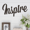 Metal Cutout- Inspire Decorative Wall Sign-3D Word Art Home Accent D�cor-Perfect for Modern Rustic or Vintage Farmhouse Style by Lavish Home