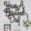 Metal Cutout-Have a Beautiful Day Decorative Wall Sign-3D Word Art Home Accent D�cor-Perfect Modern Rustic or Vintage Farmhouse Style by Lavish Home