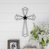 Metal Wall Cross with Decorative Center Star Design- Rustic Handcrafted Religious Wall Art for D�cor in Living Room, Bedroom, More by Lavish Home