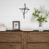 Metal Wall Cross with Decorative Gold Heart Design- Rustic Handcrafted Religious Wall Art for D�cor in Living Room, Bedroom, More by Lavish Home