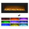 Electric Fireplace Wall Mounted, Color Changing LED Flame and Remote, 50 Inch, By Northwest (Black)-AMZ ONLY
