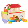 Noah?s Ark Kids Playset ? Hand Painted Hardwood Children?s Bible Figurine Toys for Sunday School, Play Time, Christian Religious Study by Hey! Play!