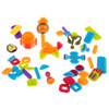 Brush Shape Building Blocks- Interlocking 3D Tile Toy Set for STEM, Building, Stacking- Creative Play for Toddlers and Preschoolers by Hey! Play!