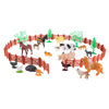 Toy Farm Animal Figures and Barnyard Accessories Set- Includes Fence, Horses, Cows, Pigs, Chickens and More Animals for Pretend Play by Hey! Play