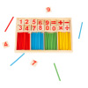 Montessori Math Manipulatives-Number Tiles and Colorful Sticks to Count, Add, Subtract, Multiply, Divide-Learning Toy for Preschoolers by Hey! Play!