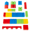 Wooden Blocks-Classic Building Set with Storage Bag-Stacking, Sorting, Color and Shape Recognition STEM Learning Toy for Preschoolers by Hey! Play!